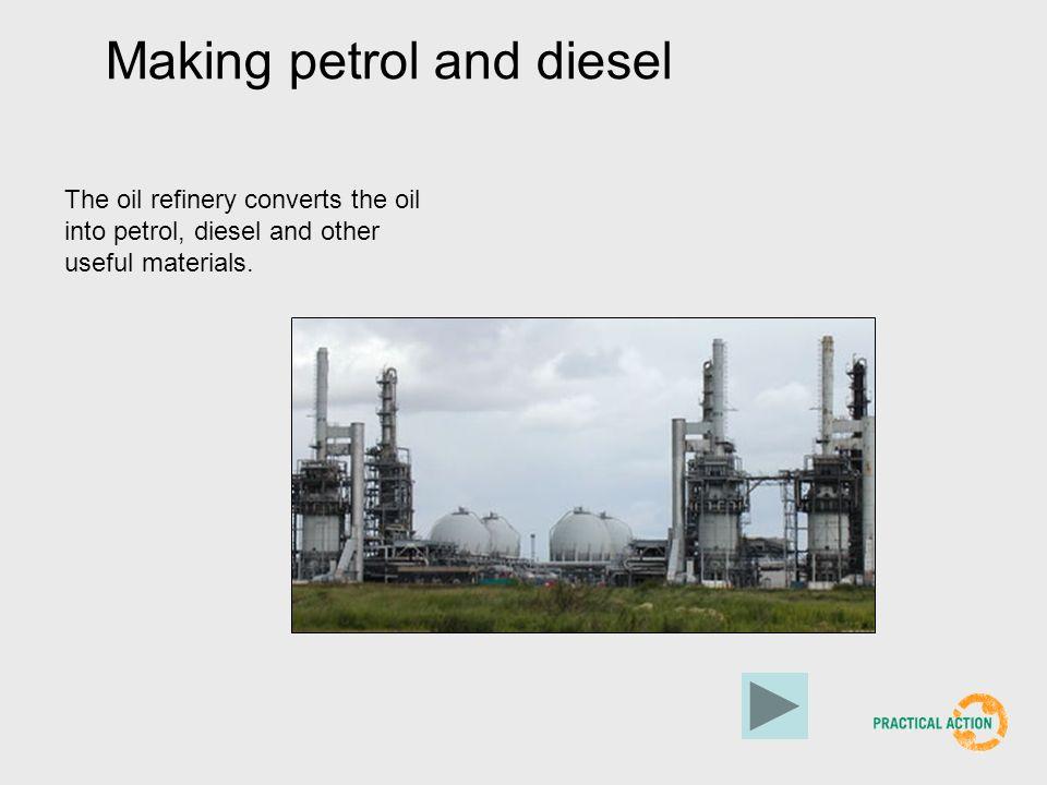 Making petrol and diesel