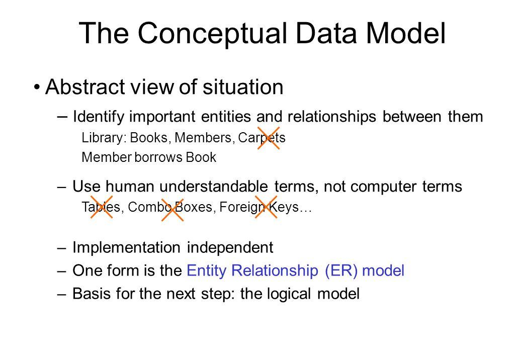 The Conceptual Data Model
