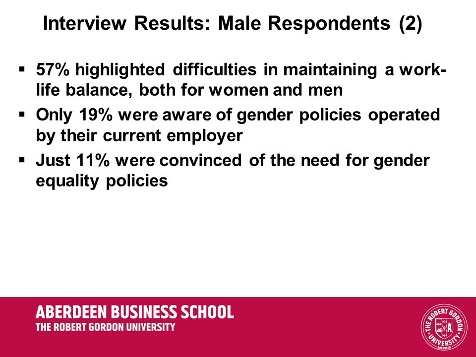 Interview Results: Male Respondents (2)