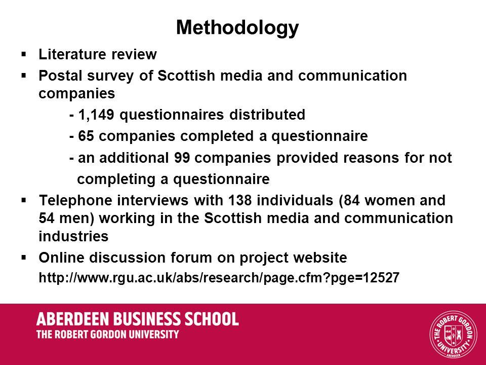 Methodology Literature review