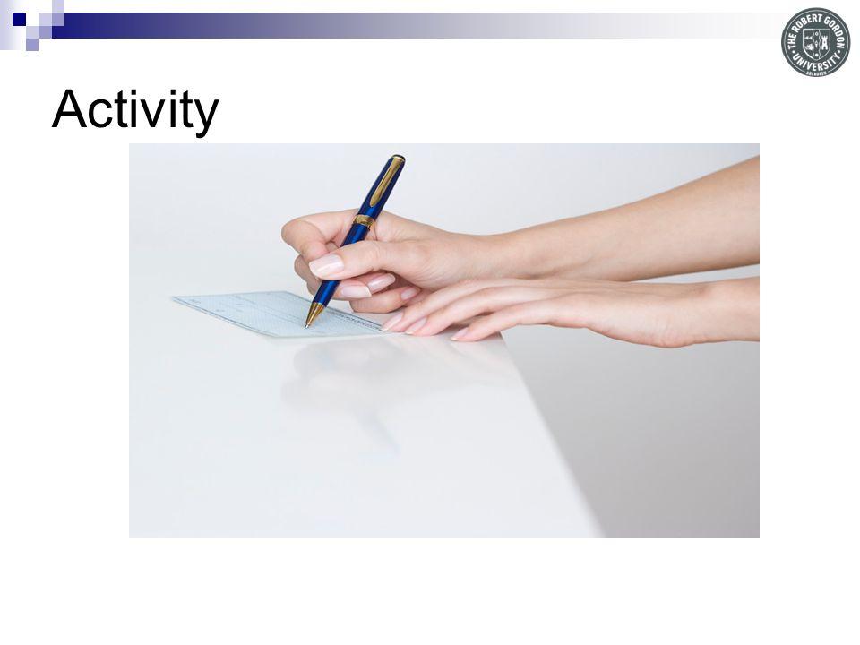 Activity Quiz on academic writing