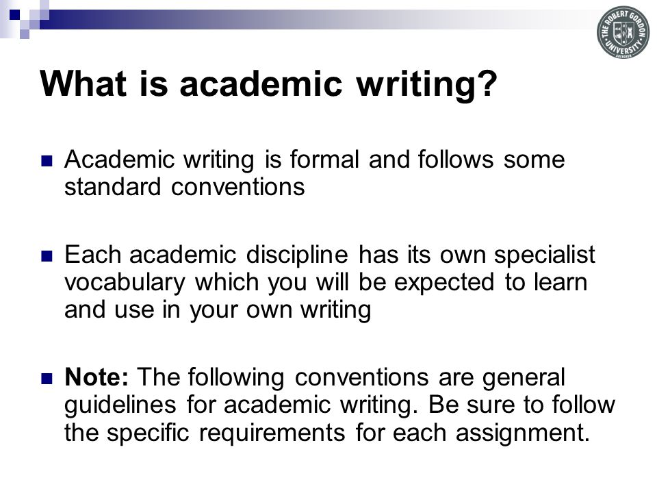 what are conventions in academic writing