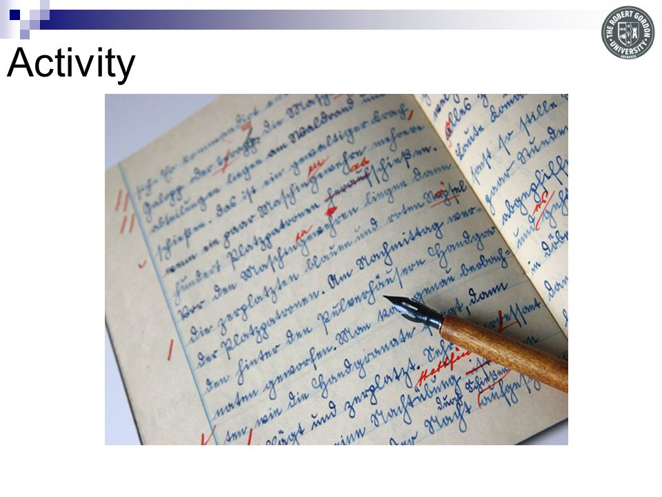 Activity Proofreading activity