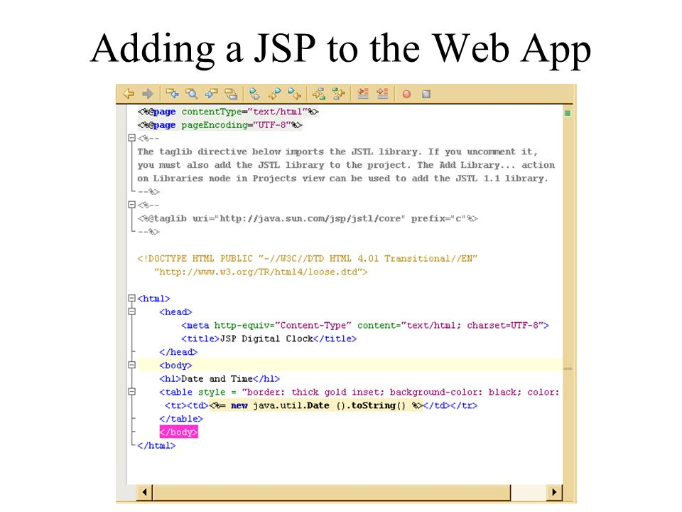 Adding a JSP to the Web App