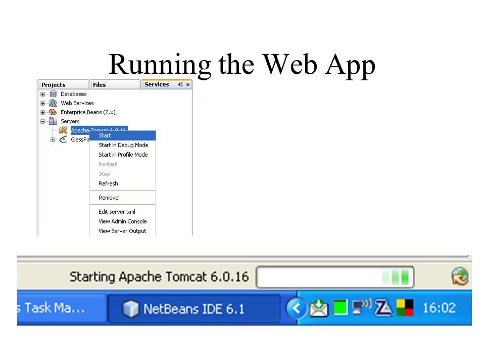 Running the Web App