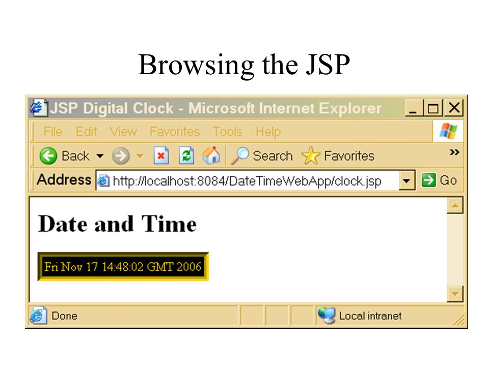 Browsing the JSP