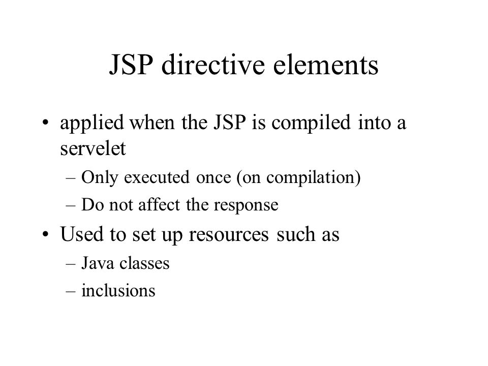 JSP directive elements