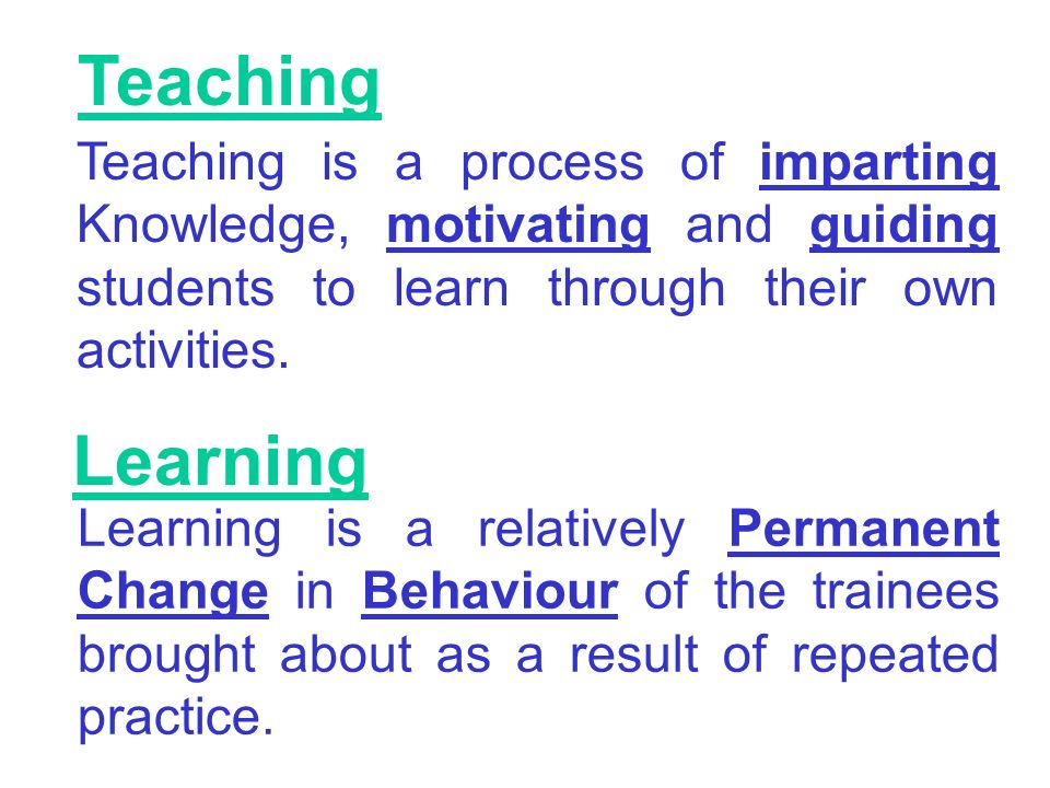 Changes in the Teaching and Learning Process in a Complex Education System