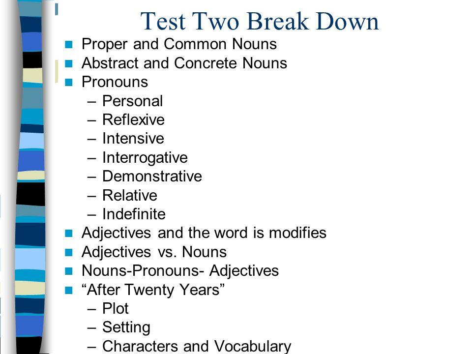 Adjectives Homework