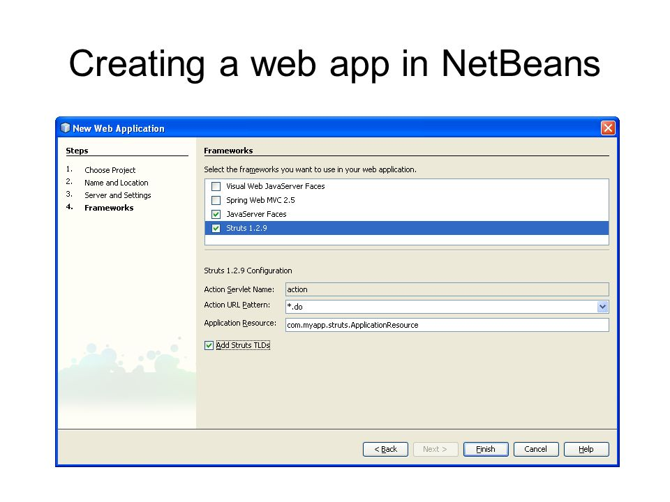 Creating a web app in NetBeans