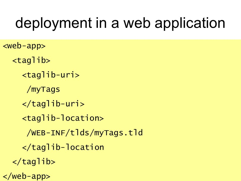 deployment in a web application
