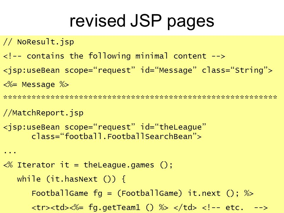 revised JSP pages // NoResult.jsp