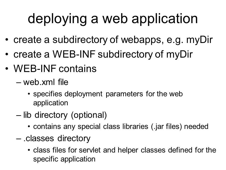 deploying a web application