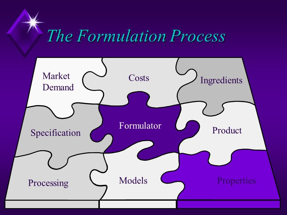 The Formulation Process