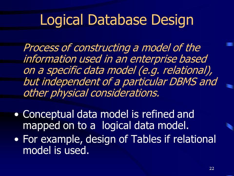 Logical Database Design