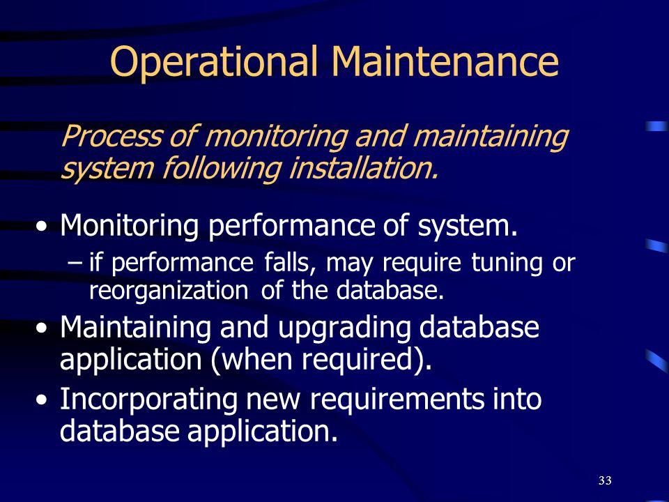 Operational Maintenance