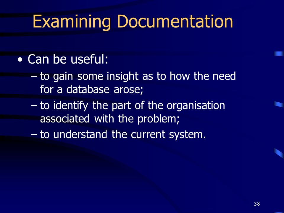 Examining Documentation