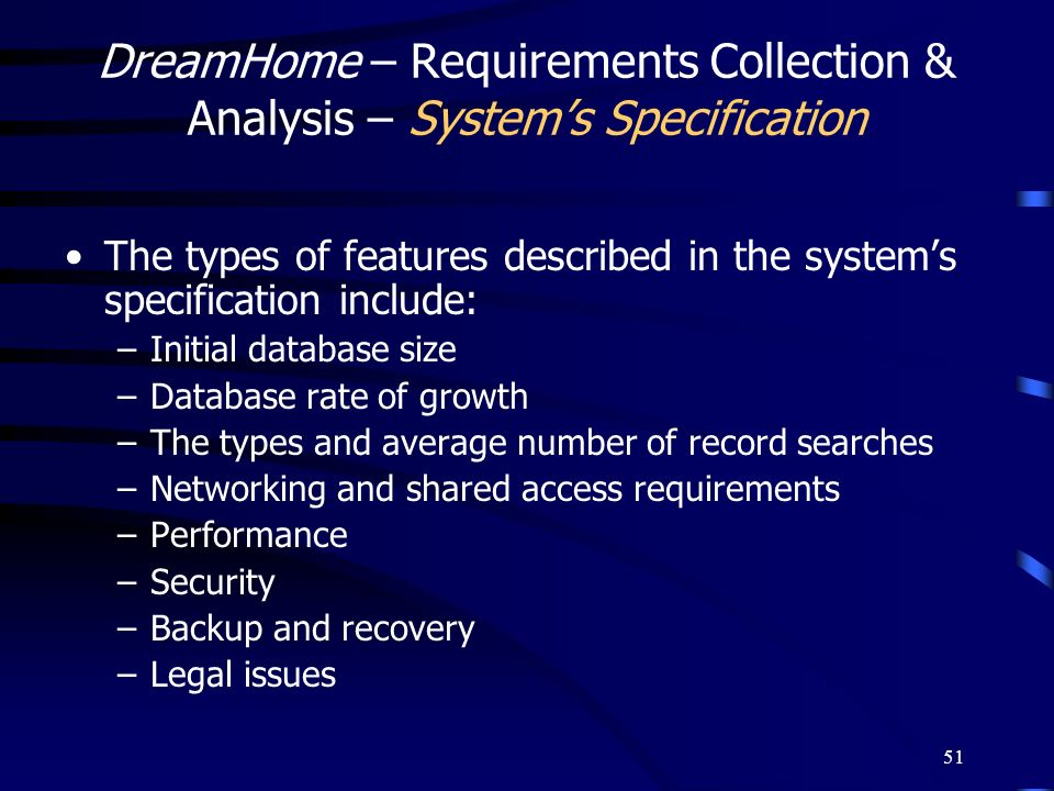 DreamHome – Requirements Collection & Analysis – System's Specification