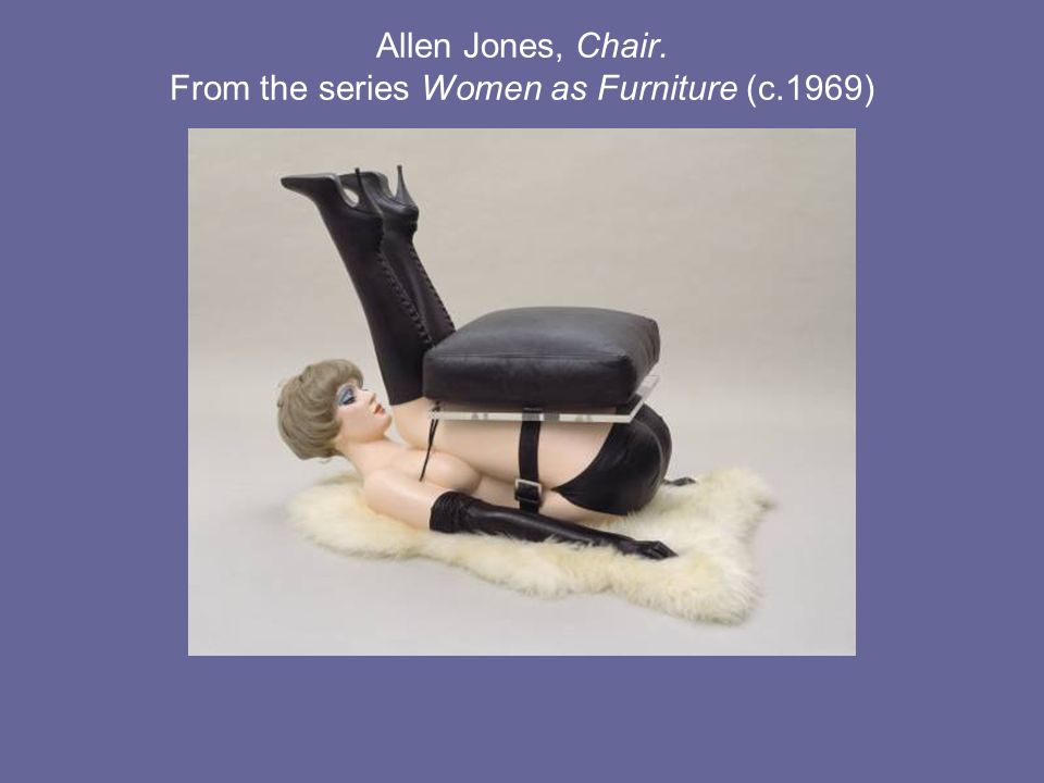 Allen Jones, Chair. From the series Women as Furniture (c.1969)