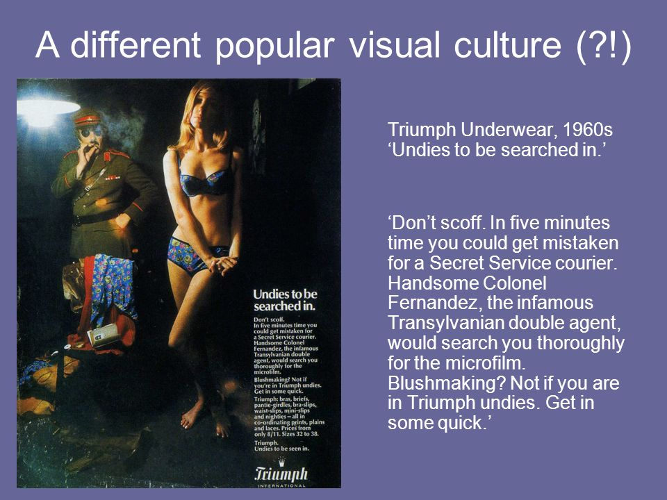 A different popular visual culture ( !)