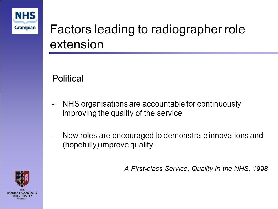 Factors leading to radiographer role extension