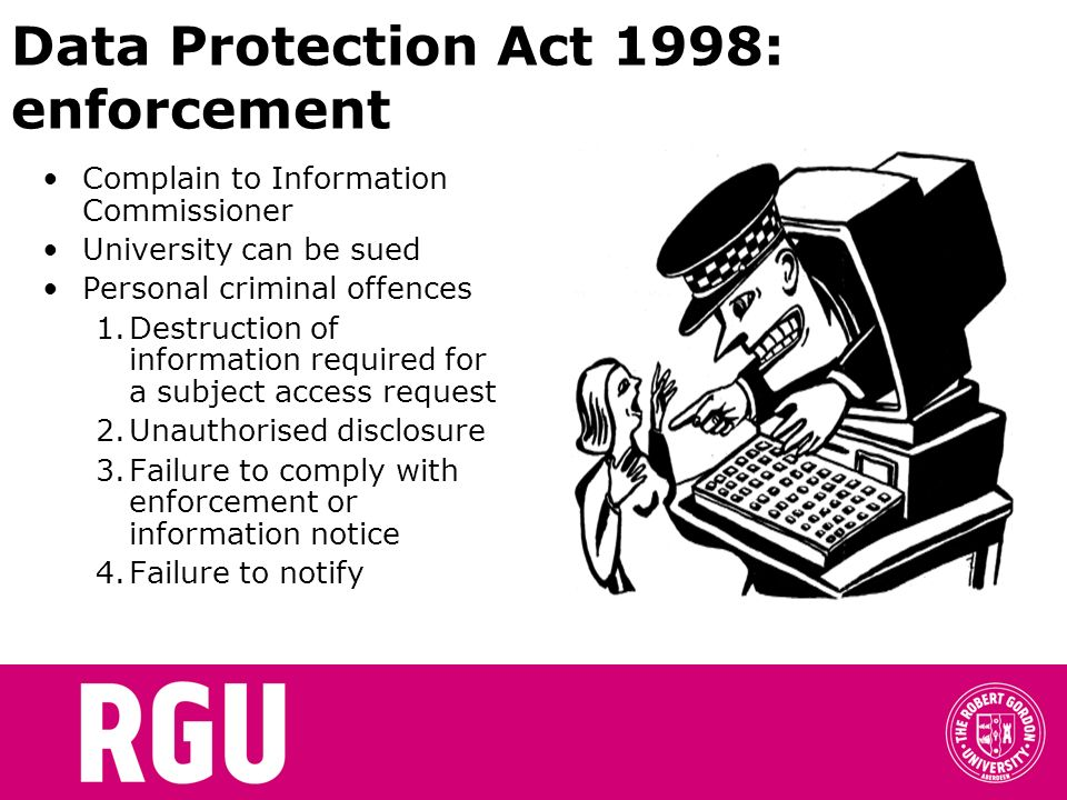 Data Protection Act 1998: enforcement