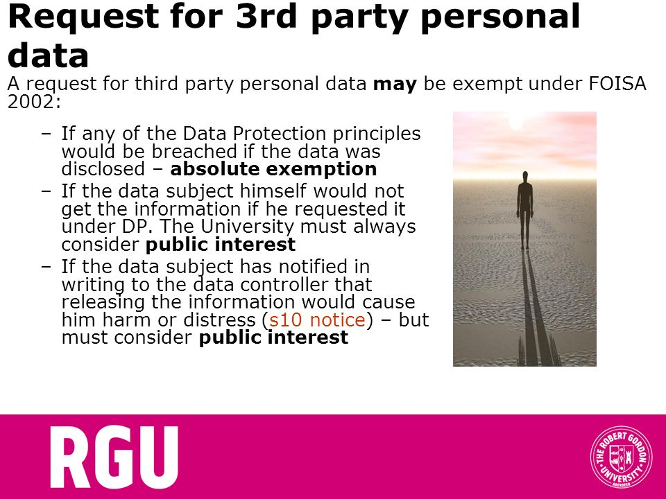 Request for 3rd party personal data