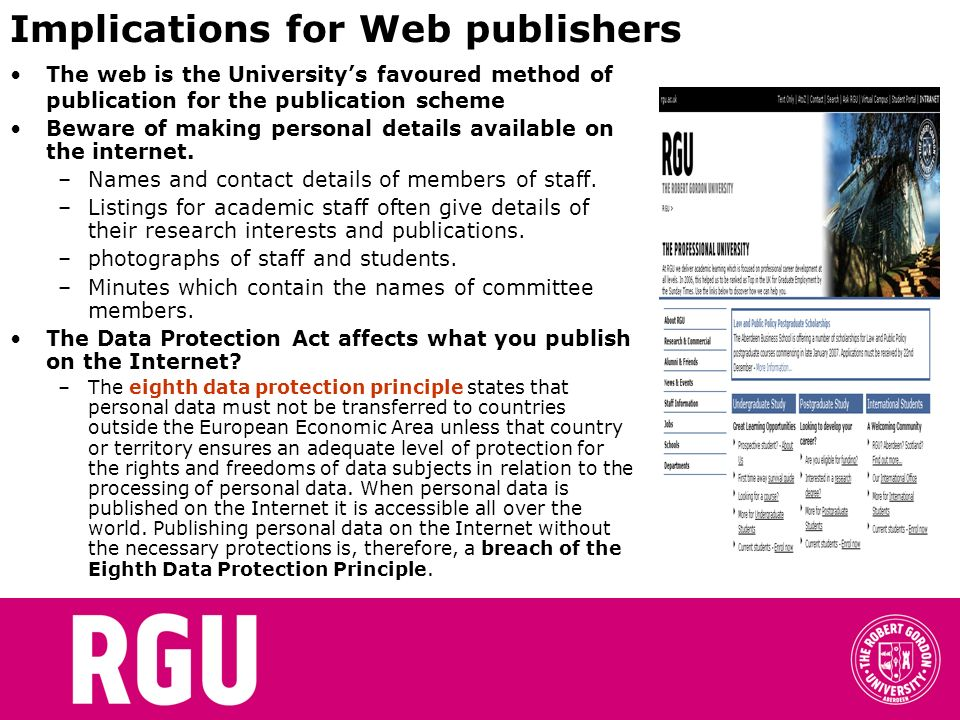 Implications for Web publishers