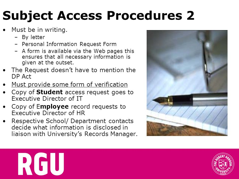 Subject Access Procedures 2
