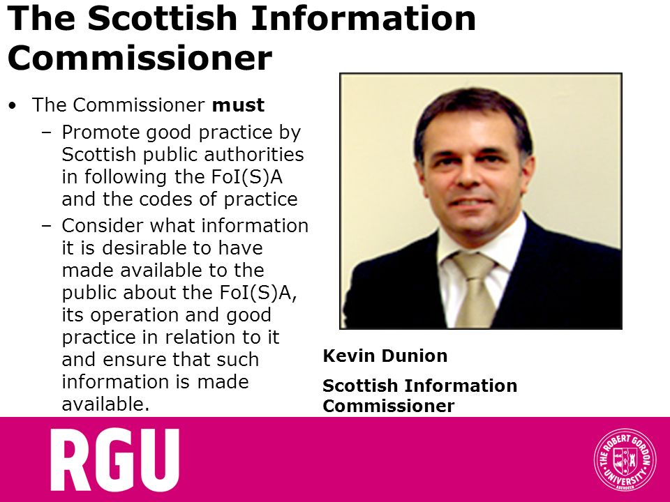 The Scottish Information Commissioner