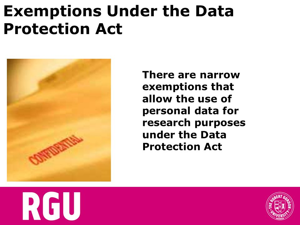 Exemptions Under the Data Protection Act