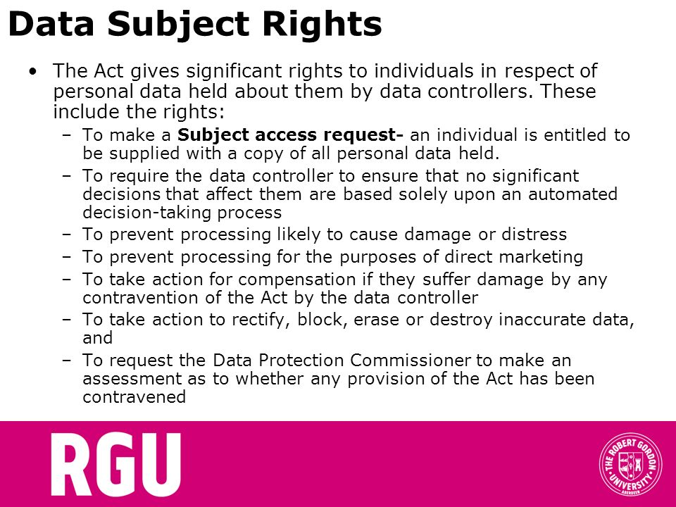 Data Subject Rights