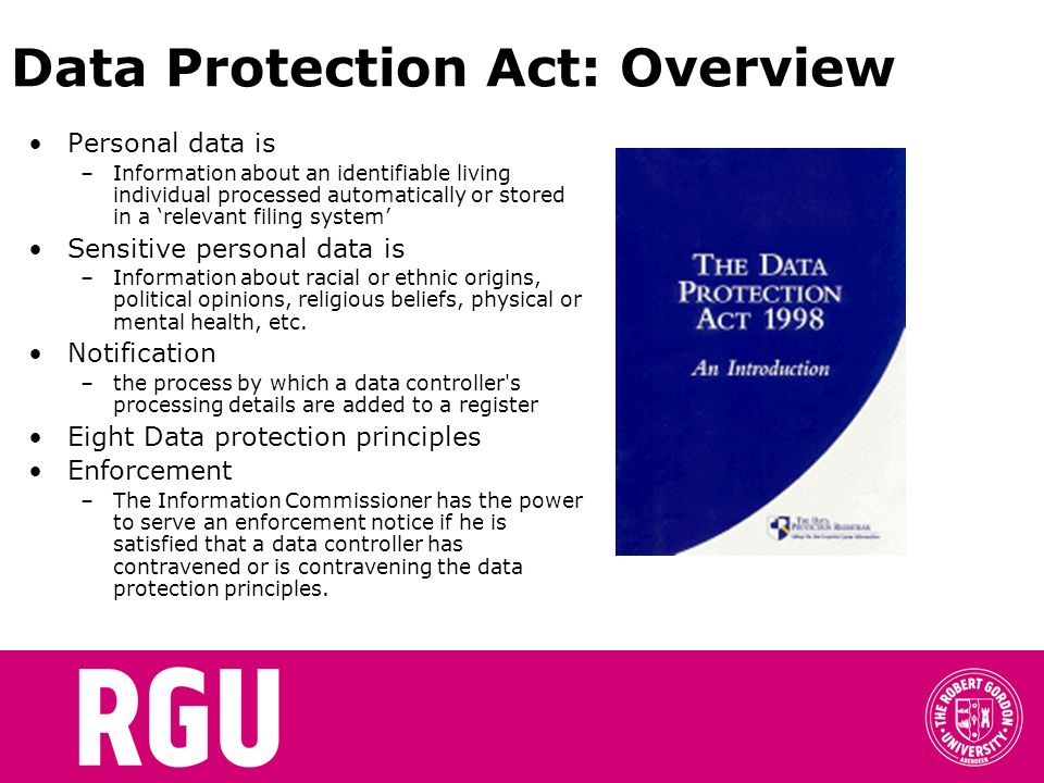 Data Protection Act: Overview
