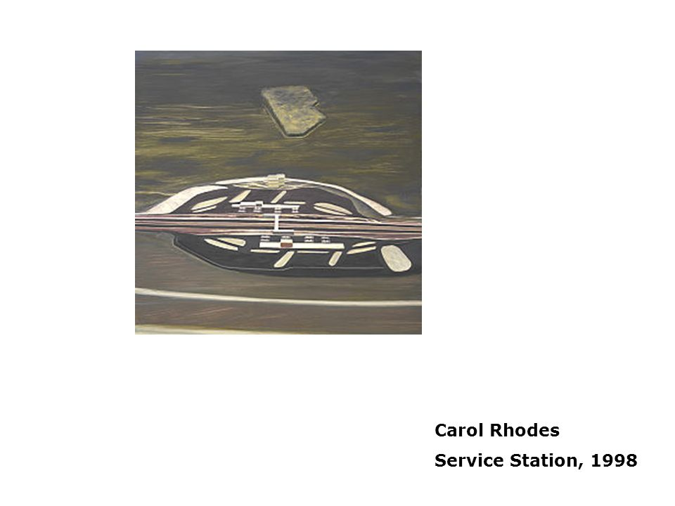 Placelessness Carol Rhodes Service Station, 1998