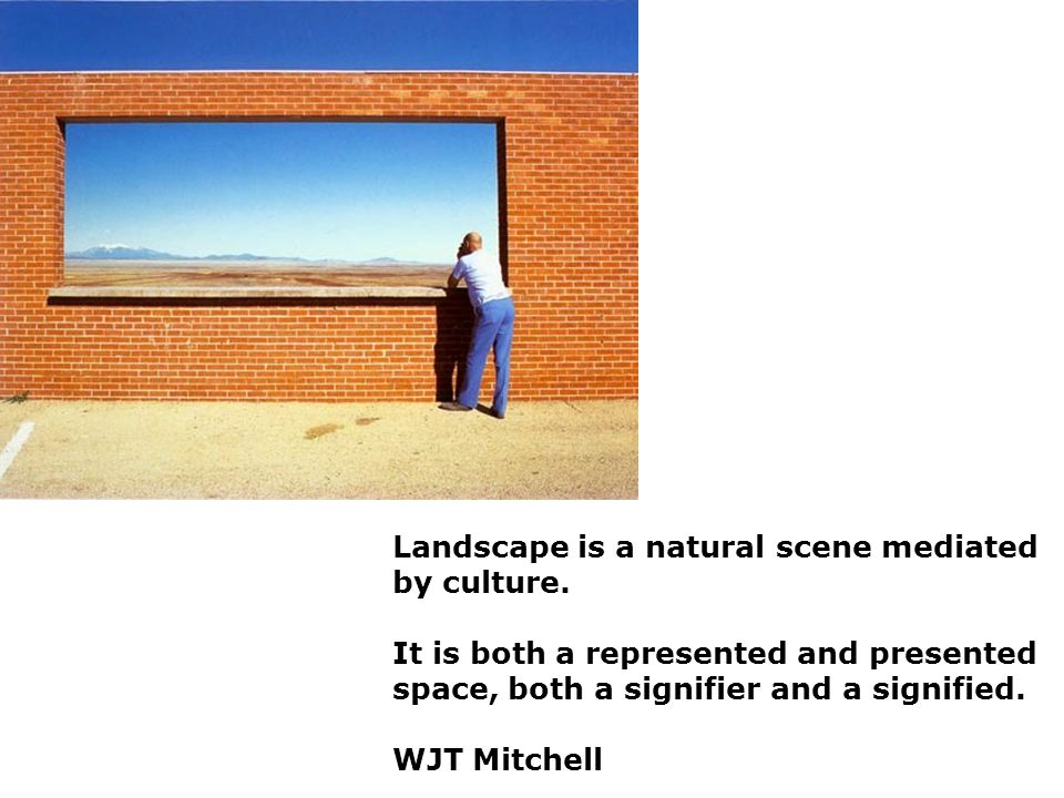 Last week looked at Land and Nature, and found that our understanding of these concepts is often mediated by culture. The way we view landscape is never neutral, and artists depictions of it is heavily subjective. Framed - in the way that this 'place of outstanding beauty' has been framed for our consumption.