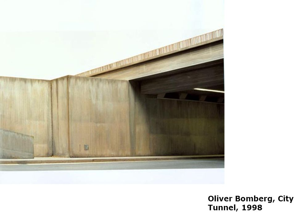 Placelessness Oliver Bomberg, City Tunnel, 1998