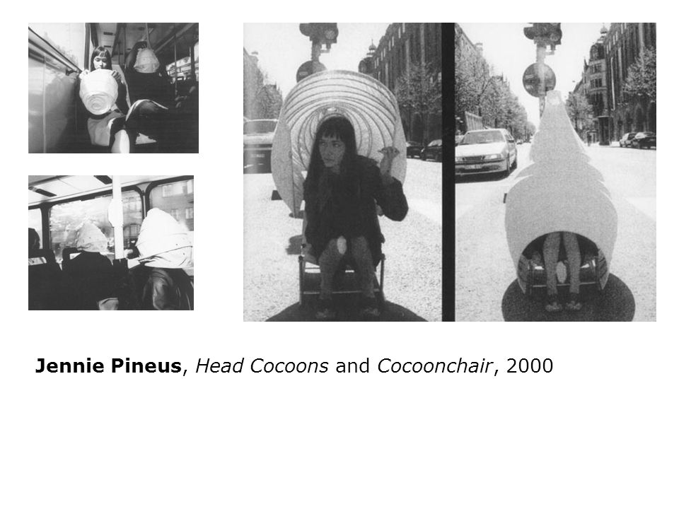 Jennie Pineus, Head Cocoons and Cocoonchair, 2000