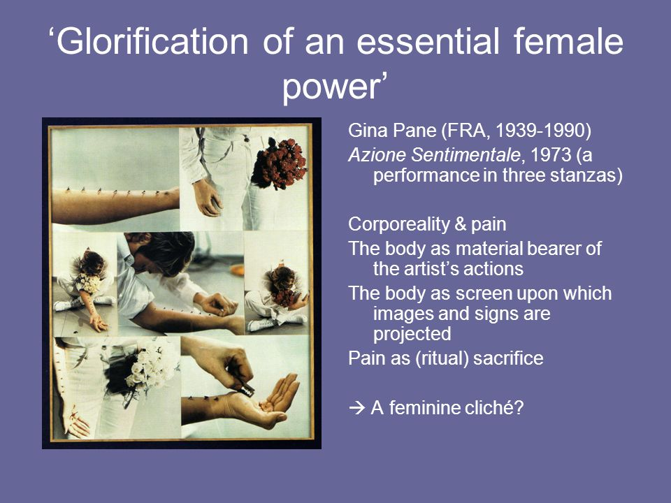 'Glorification of an essential female power'