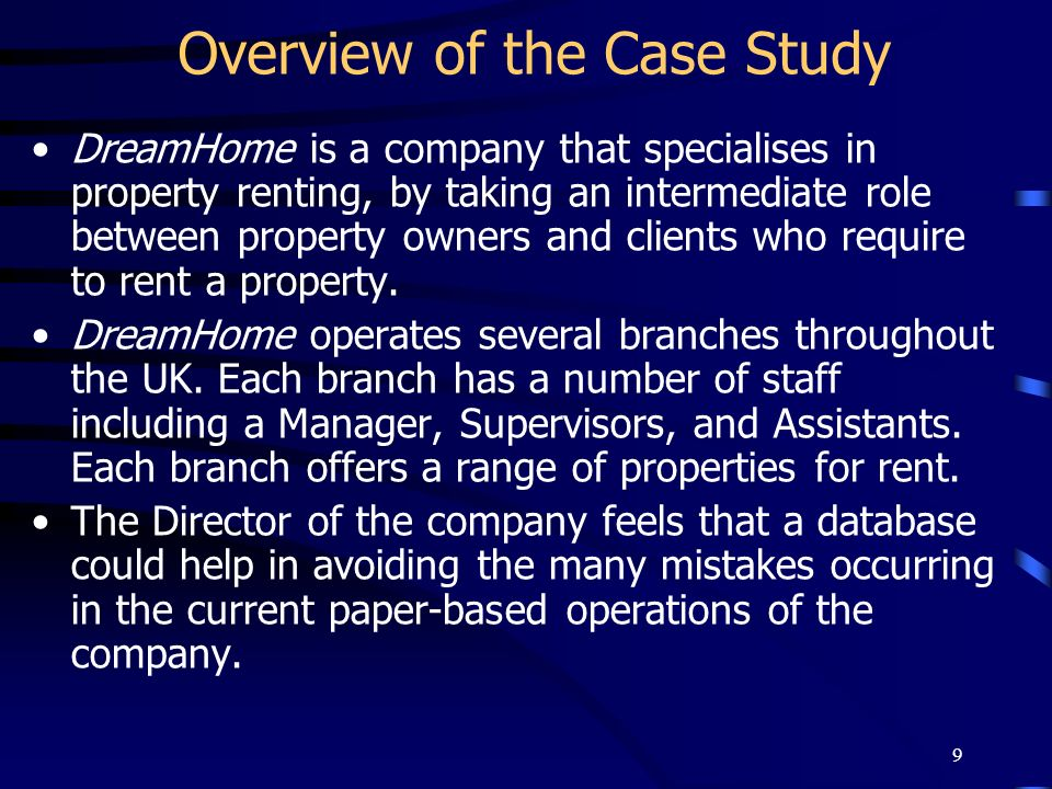 Overview of the Case Study