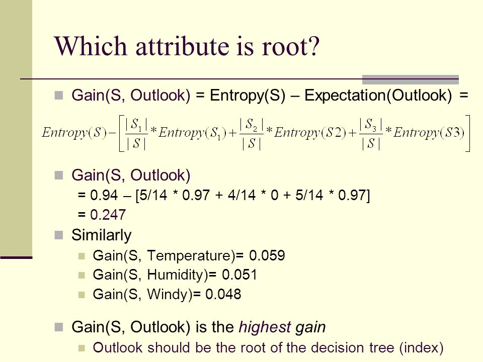 Which attribute is root