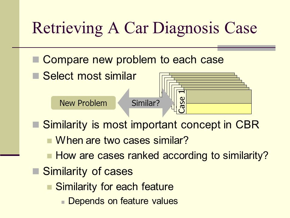 Retrieving A Car Diagnosis Case