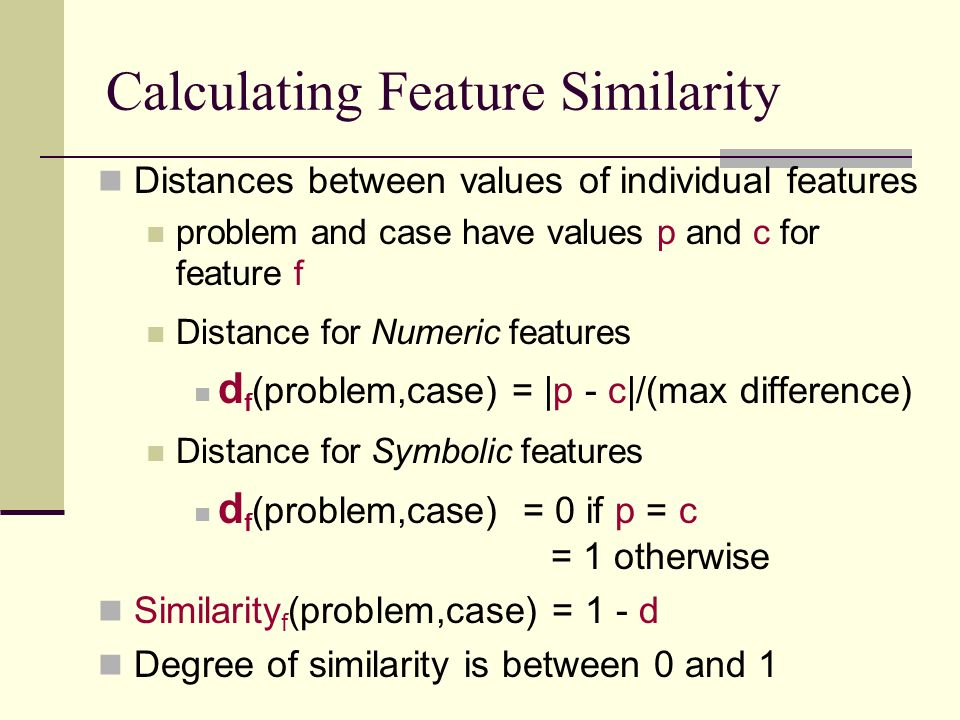 Calculating Feature Similarity