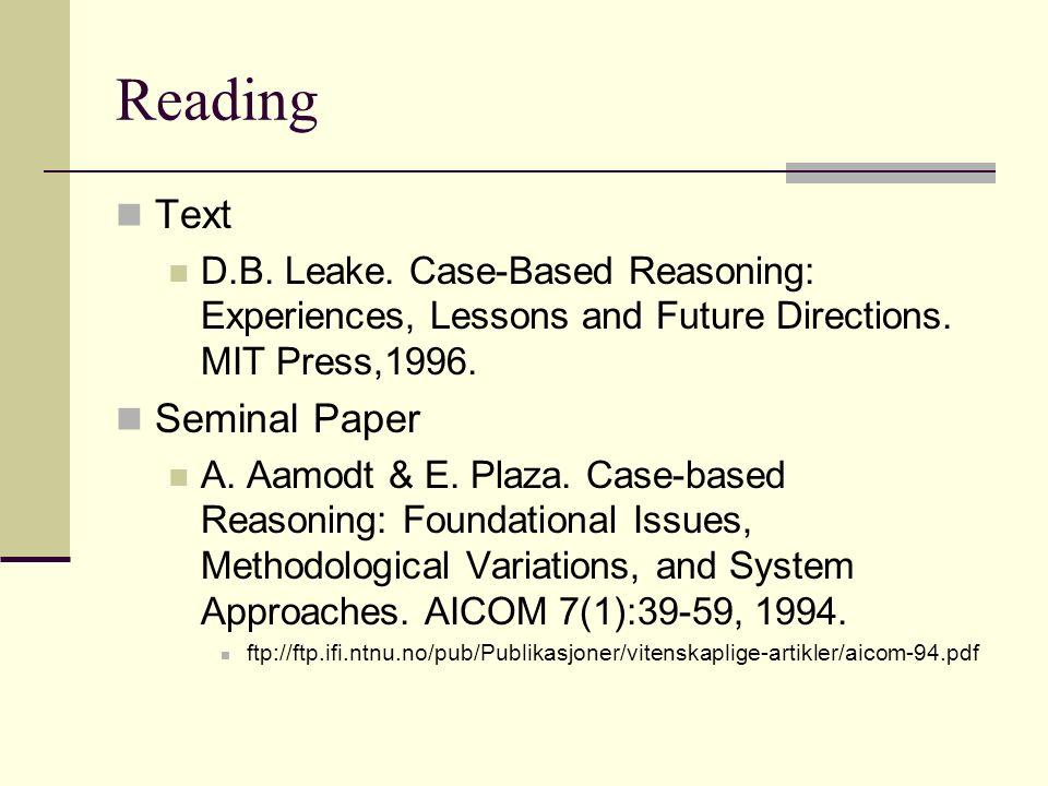 Reading Text Seminal Paper