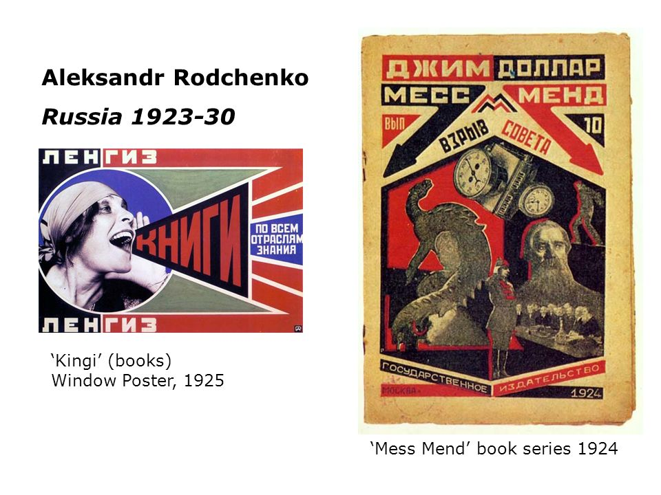 Aleksandr Rodchenko Russia 1923-30 'Kingi' (books) Window Poster, 1925