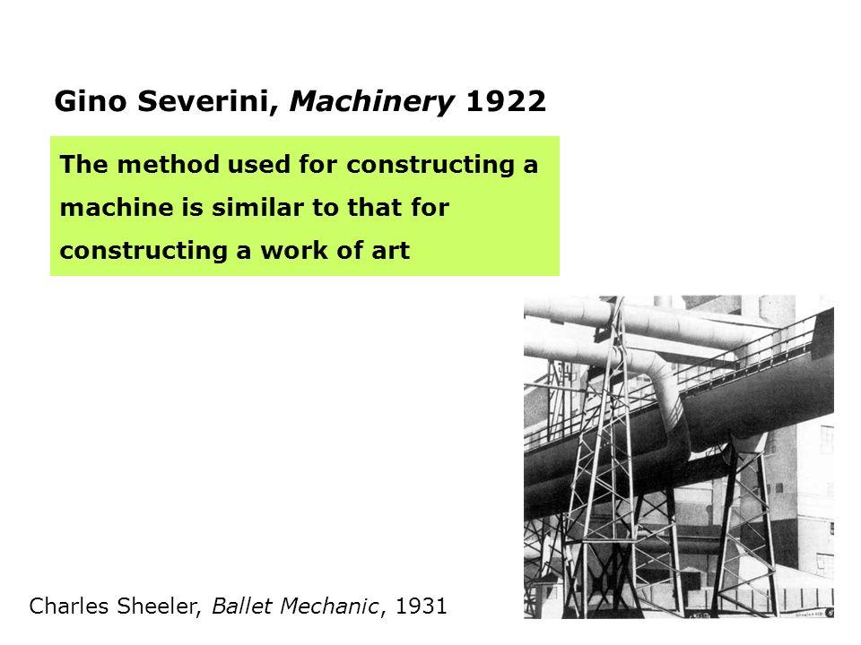 Gino Severini, Machinery 1922