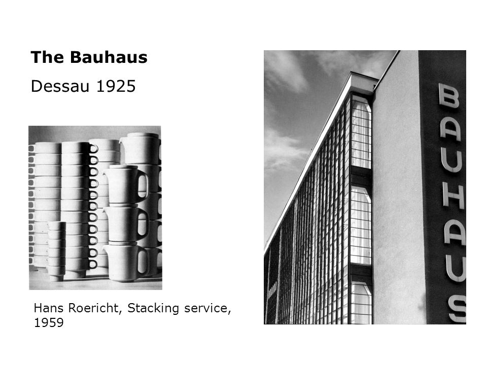 The Bauhaus Dessau 1925 Hans Roericht, Stacking service, 1959