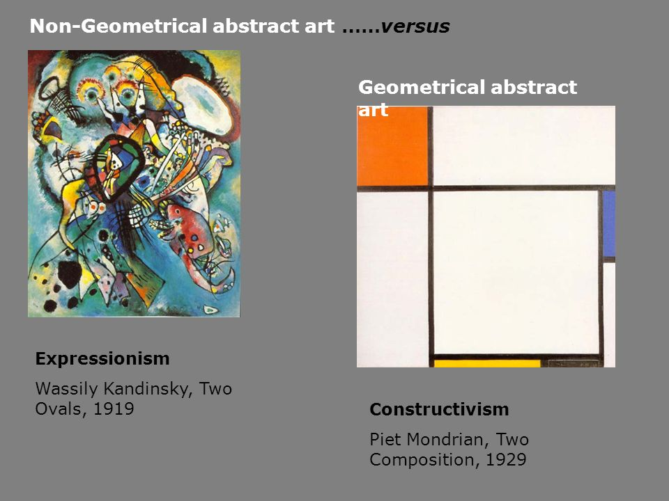 Non-Geometrical abstract art ……versus