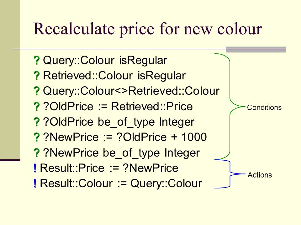 Recalculate price for new colour