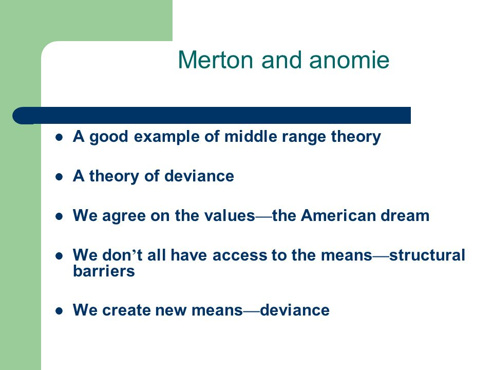 mertons theory essay Since the merton & kitt study, concepts of reference group theory have  essay  is the direction it provides for further theoretical development.