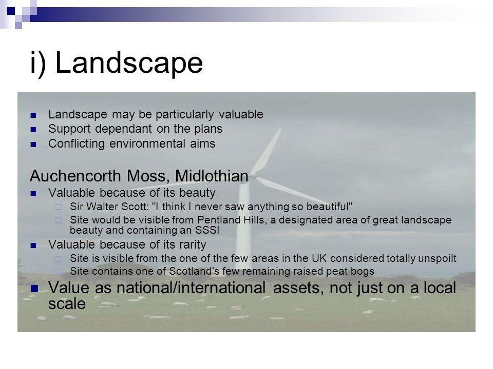 i) Landscape Auchencorth Moss, Midlothian